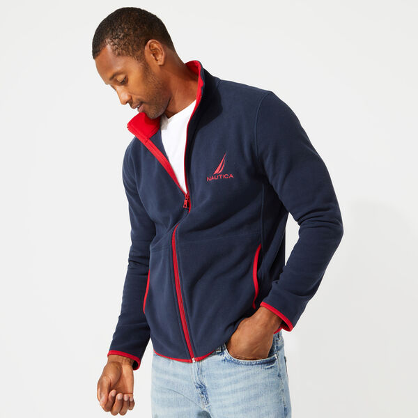 FULL ZIP NAUTEX FLEECE JACKET - Navy