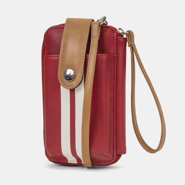 CAROLINE STRIPED PHONE CASE WITH STRAP - Nautica Red