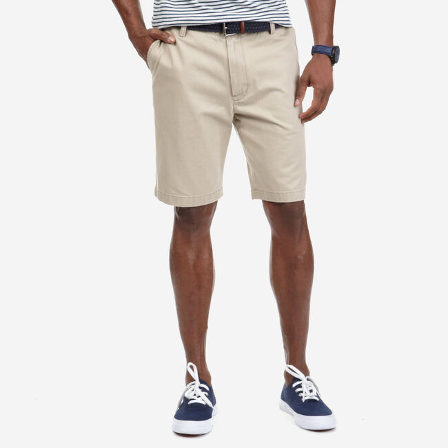 "8.5"" Flat Front Deck Short,True Khaki,large"