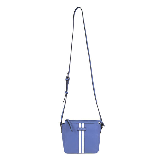 DOUBLE STRIPE CROSSBODY BAG,Ice Blue,large