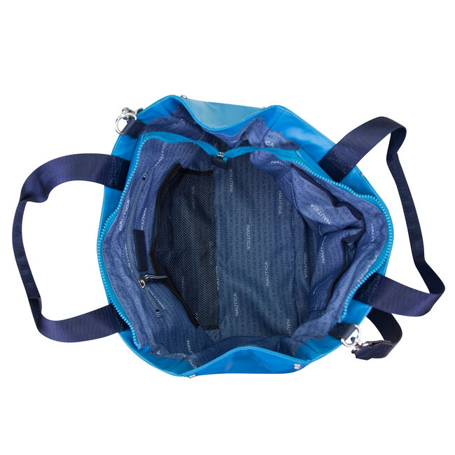 Fathoms For Days Mesh Weekender,Ice Blue,large