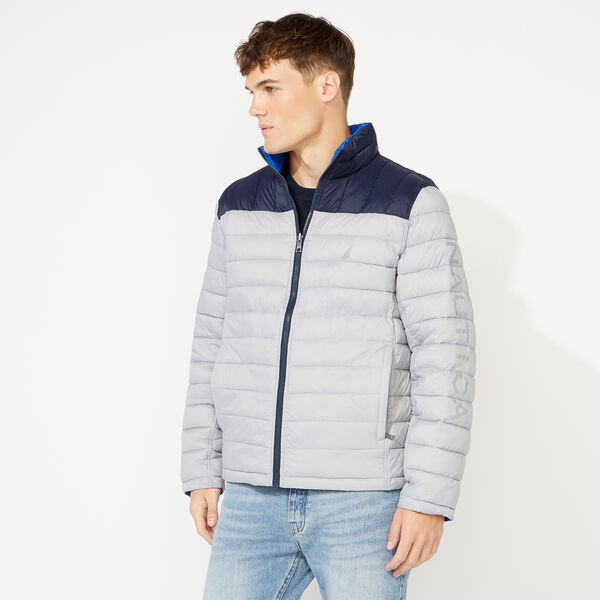 LIGHTWEIGHT REVERSIBLE JACKET WITH TEMPASPHERE - Grey Alloy