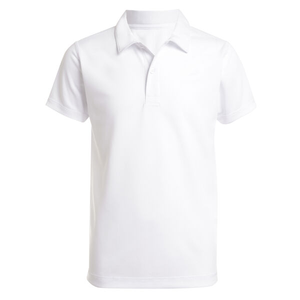 BOYS' PERFORMANCE POLO (8-20) - Antique White Wash