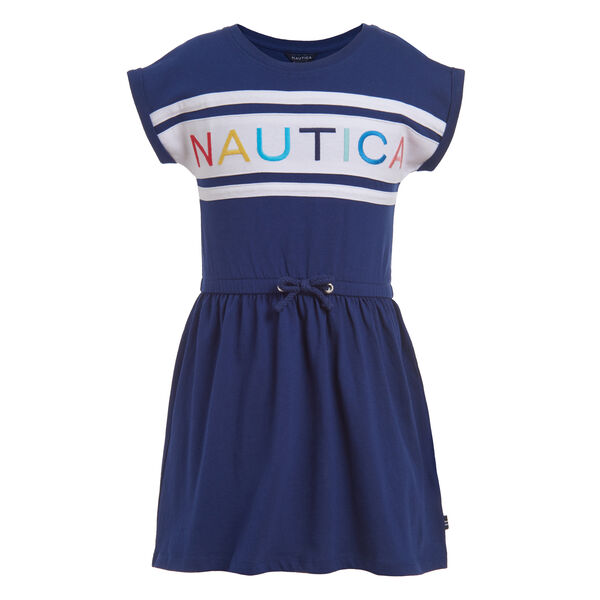 TODDLER GIRLS' LOGO GRAPHIC DRESS (2T-4T) - Aqua Isle