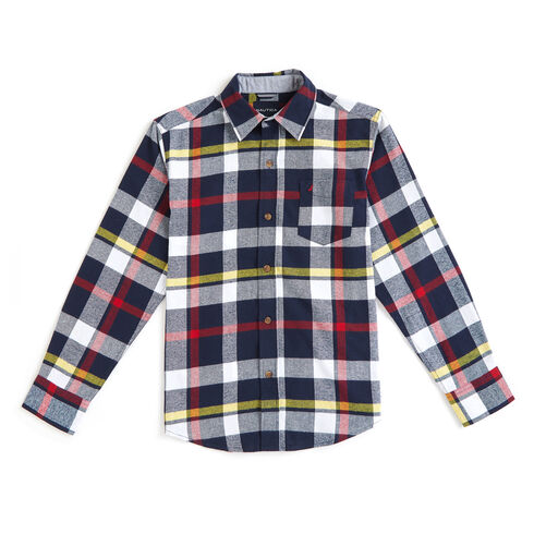 Toddler Boys' Grayson Flannel Plaid Long Sleeve Shirt (2T-4T) - Sport Navy