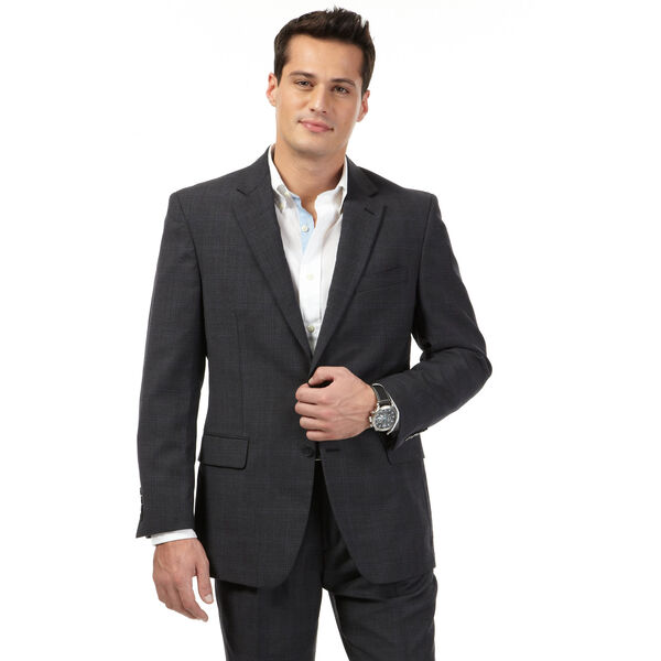 Charcoal Plaid Jacket - Charcoal Heather