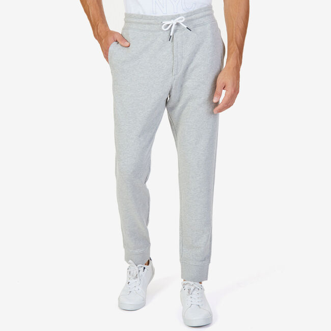 French Terry Signature Joggers,Grey Heather,large