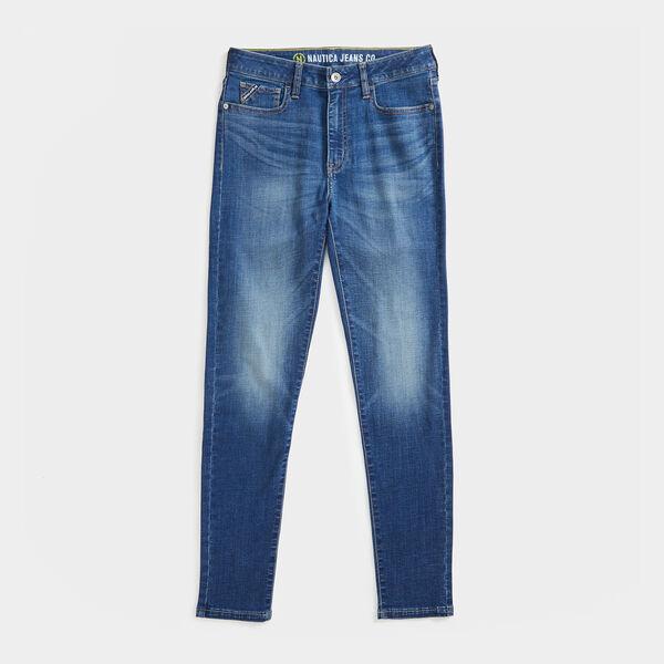 NAUTICA JEANS CO. SUSTAINABLY CRAFTED HIGH-RISE SKINNY DENIM - Blue Indigo Heather