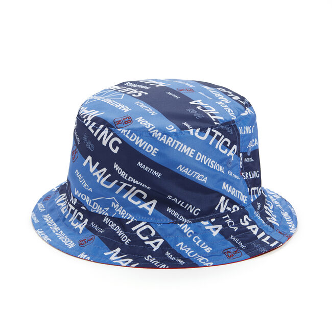REVERSIBLE BUCKET HAT,Reef Blue,large