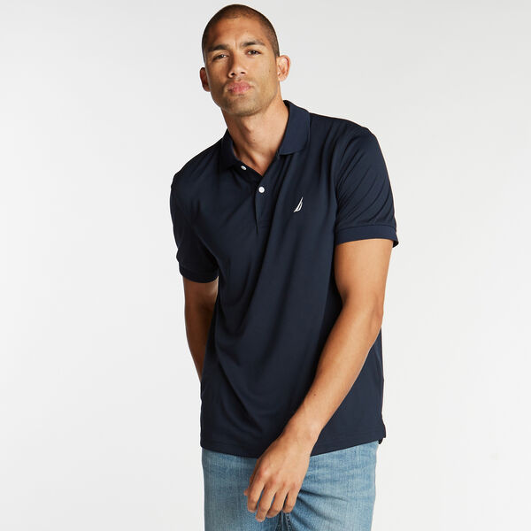 Classic Fit Performance Polo - Navy