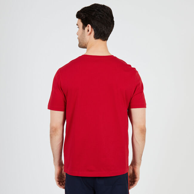 Sun, Sand & Surf Sleep T-Shirt,Nautica Red,large