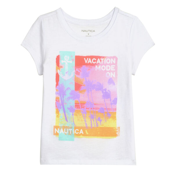 GIRL'S VACATION MODE TEE - White