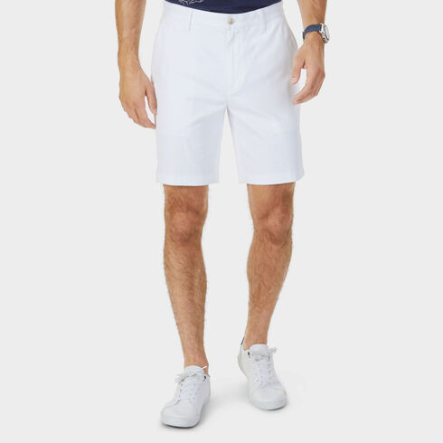 "Stretch Classic Fit Deck Shorts - 8.5"" Inseam - Bright White"