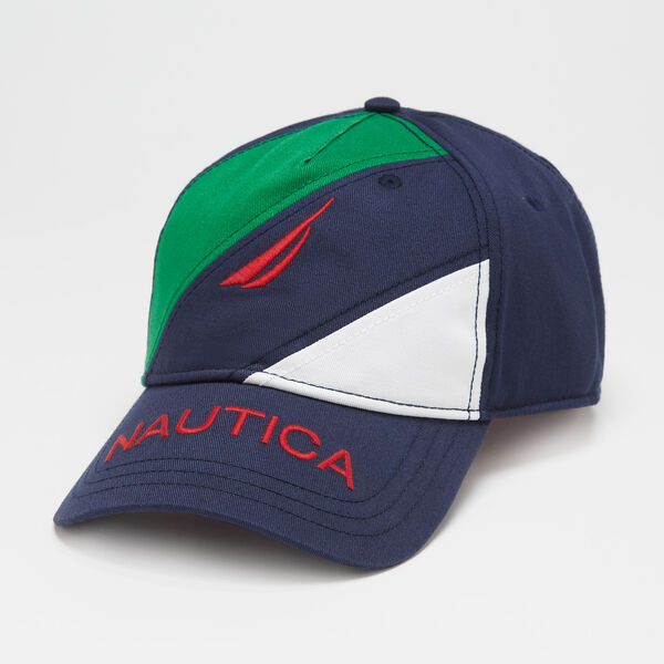 COLORBLOCK LOGO CAP - Navy