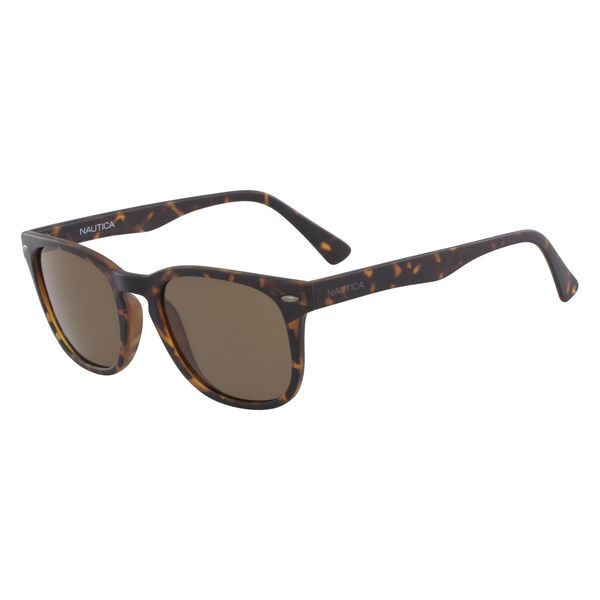 Squared Sunglasses with Matte Tortoise Frame - Cafe