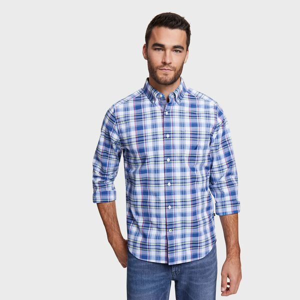 Big & Tall Plaid Classic Fit Shirt - Blue Depths