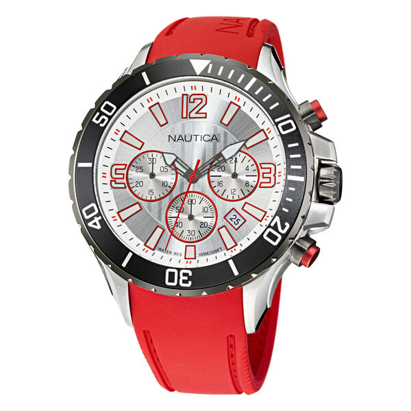 NST CHRONOGRAPH STAINLESS STEEL AND SILICONE WATCH - Multi