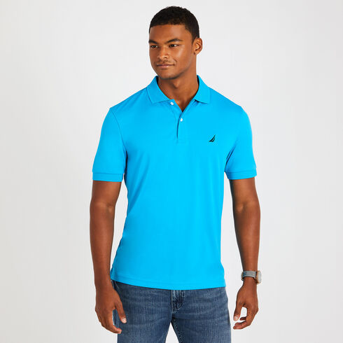 Short Sleeve Classic Fit Performance Polo - Bright Blue Jig