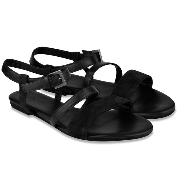 Peary Leather Sandal - True Black