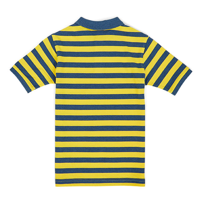 Toddler Boys' Harrison Striped Pique Polo (2T-4T),Oro,large