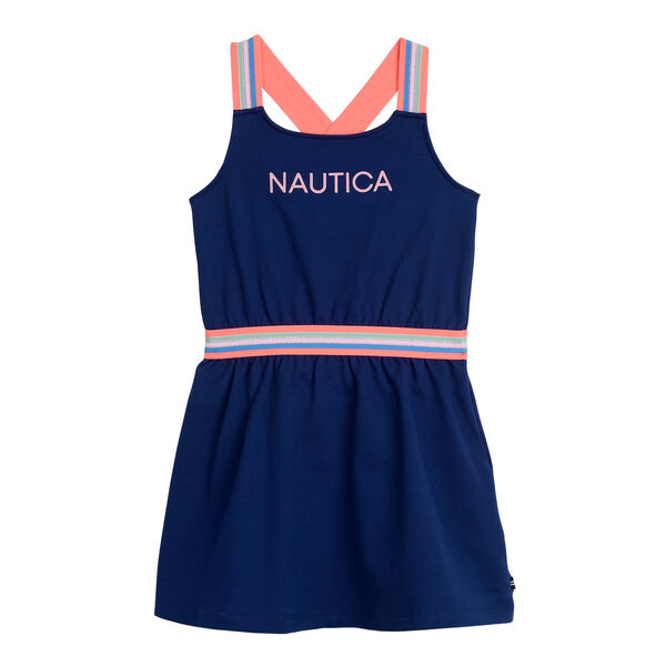 GIRLS' FRENCH TERRY DRESS (8-20) - Aqua Isle