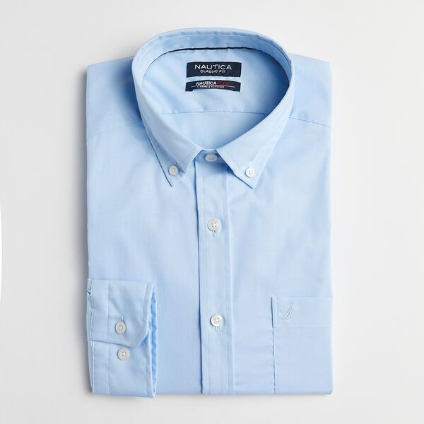 CLASSIC FIT WRINKLE RESISTANT SOLID SHIRT - Azure Blue