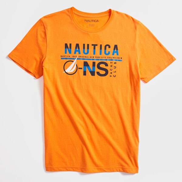 YACHT CLUB GRAPHIC T-SHIRT - Orange