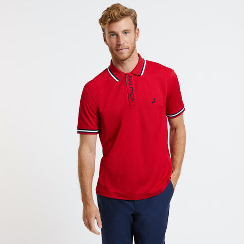 SHORT SLEEVE PERFORMANCE POLO IN CLASSIC FIT - Nautica Red