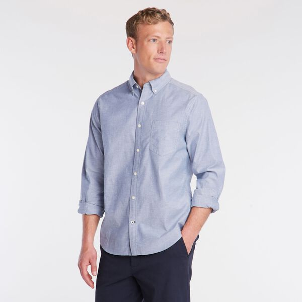BIG & TALL CLASSIC FIT STRETCH OXFORD SHIRT - Estate Blue