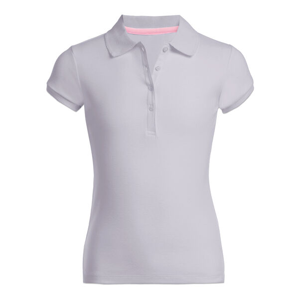 Girls' Short Sleeve Polo (7-16) - Grey Heather