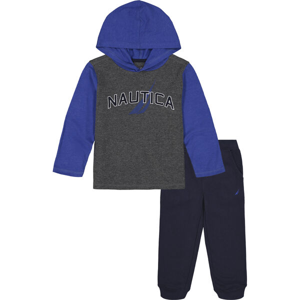 INFANT BOYS' THERMAL HOODIE 2PC JOGGER SET (12M-24M) - Anchor Grey