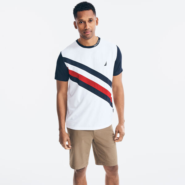 NAVTECH COLORBLOCK SASH T-SHIRT - Bright White