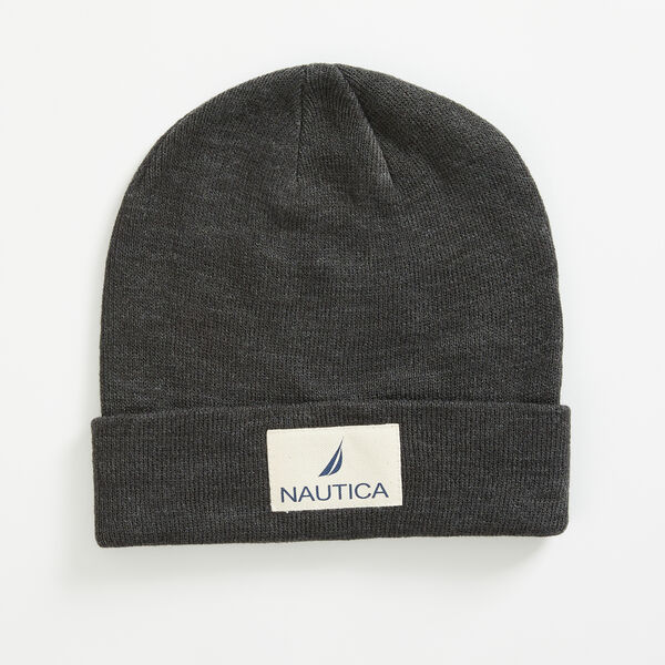 LOGO PATCH CUFFED BEANIE - Grey Heather