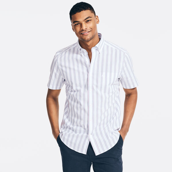 CLASSIC FIT STRETCH STRIPE SHIRT - Bright White