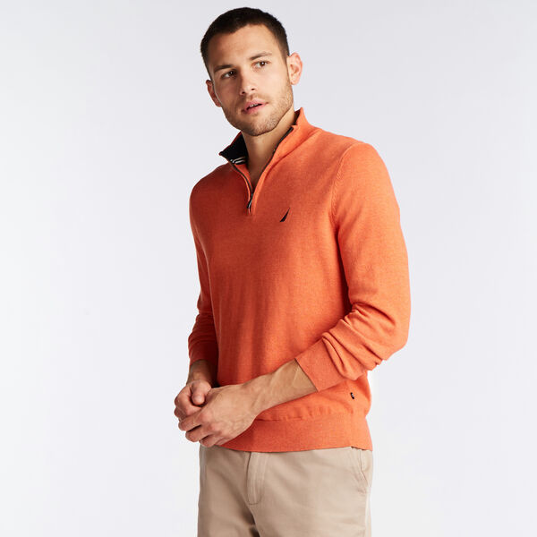 QUARTER ZIP NAVTECH SWEATER - Rustic Sunset Heather