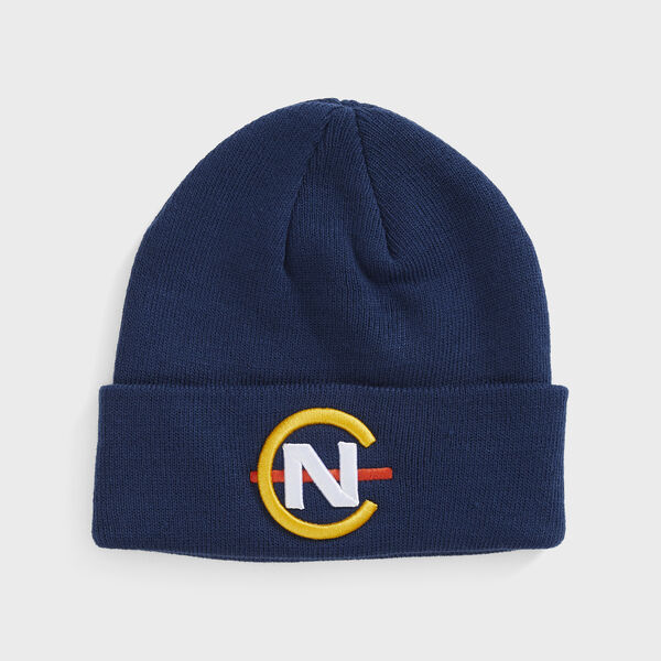 COMPETITION RIBBED-KNIT LOGO BEANIE - Navy