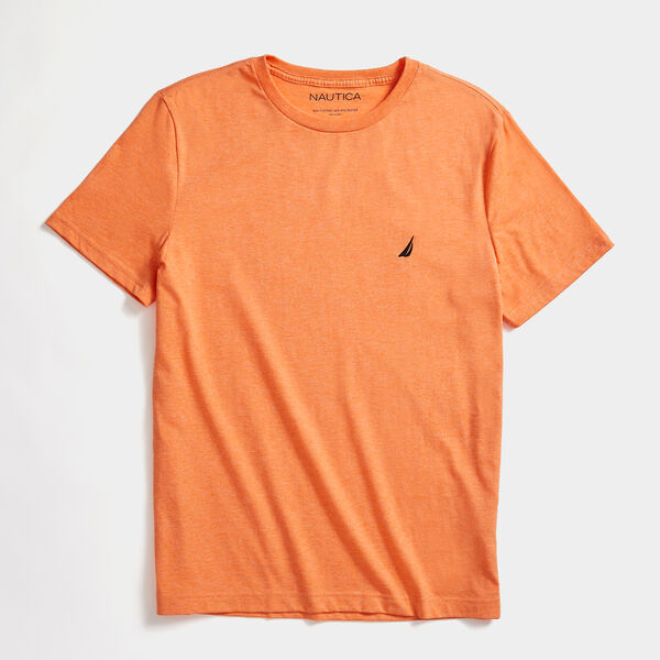 HEATHERED CREWNECK T-SHIRT - Shrimp