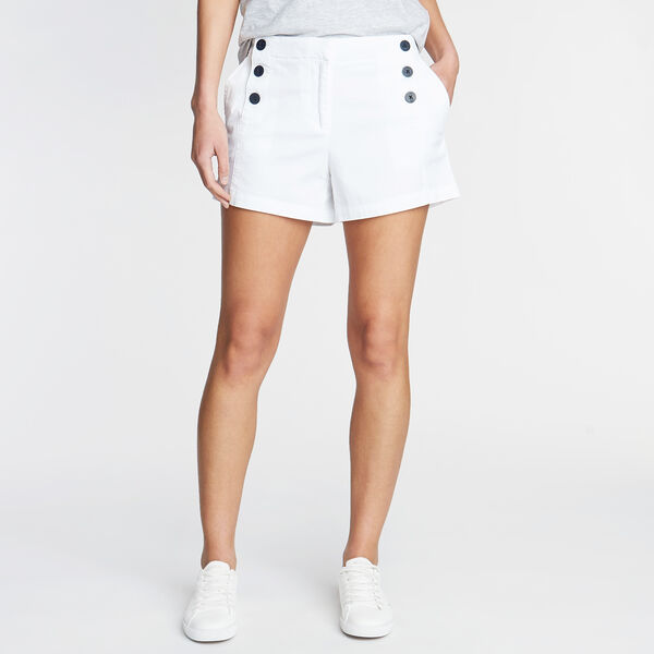 "Stretch Twill Sailor Shorts - 4"" Inseam - Bright White"