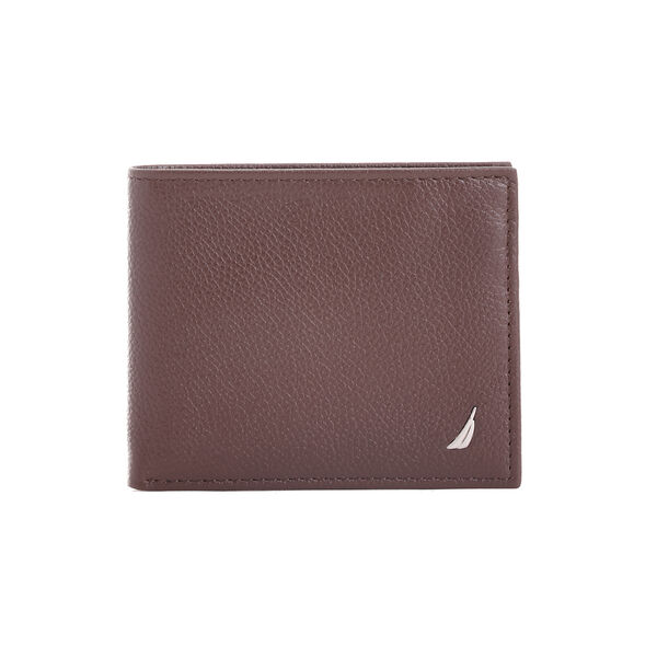 Milled Flat Billfold Wallet - Brown Stone
