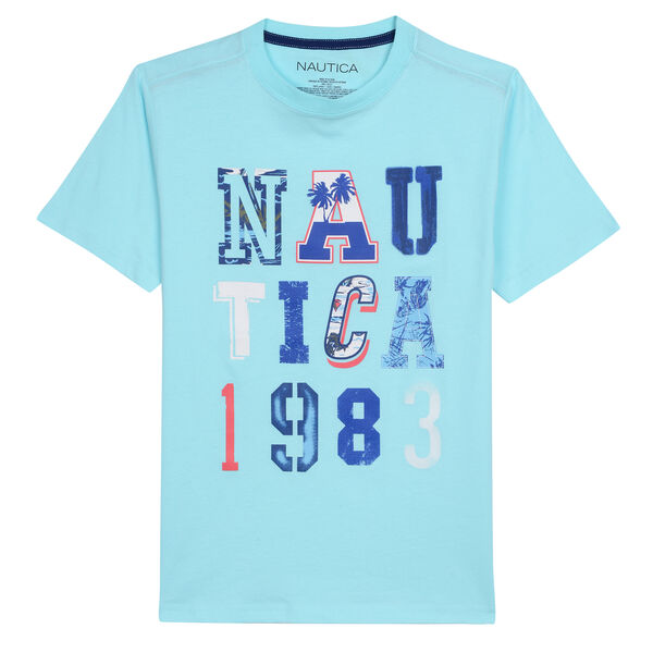 BOYS' JARED T-SHIRT IN NAUTICA 1983 GRAPHIC (8-20) - Cargo Green