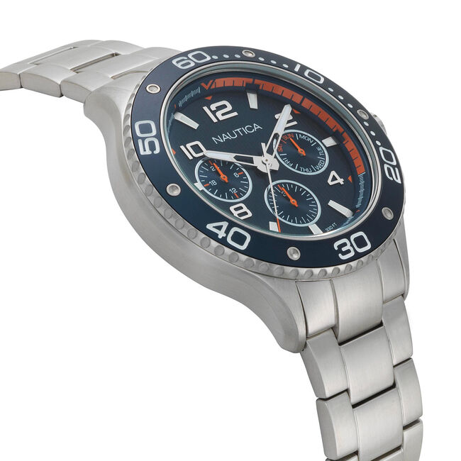 Pier 25 Multifunction Watch,Navy,large