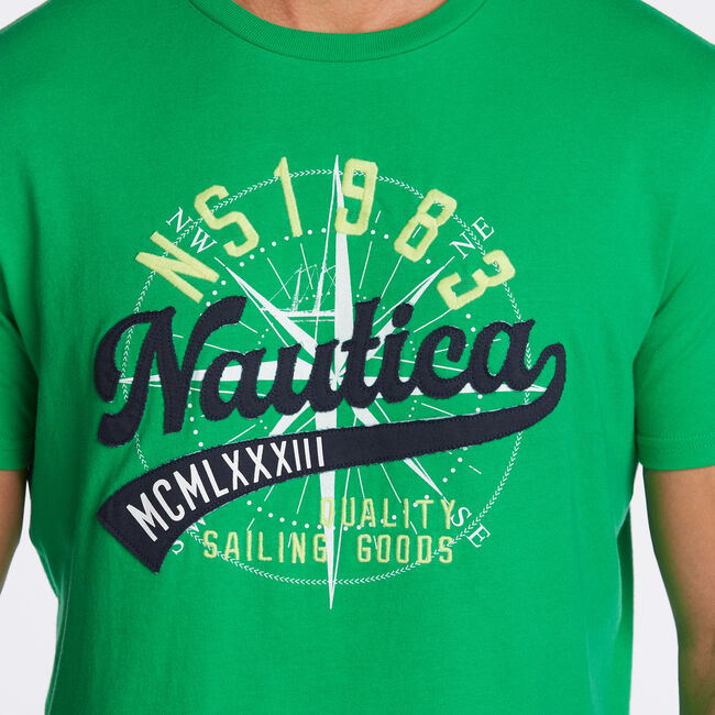 NAUTICA QUALITY GOODS GRAPHIC TEE,Bright Green,large