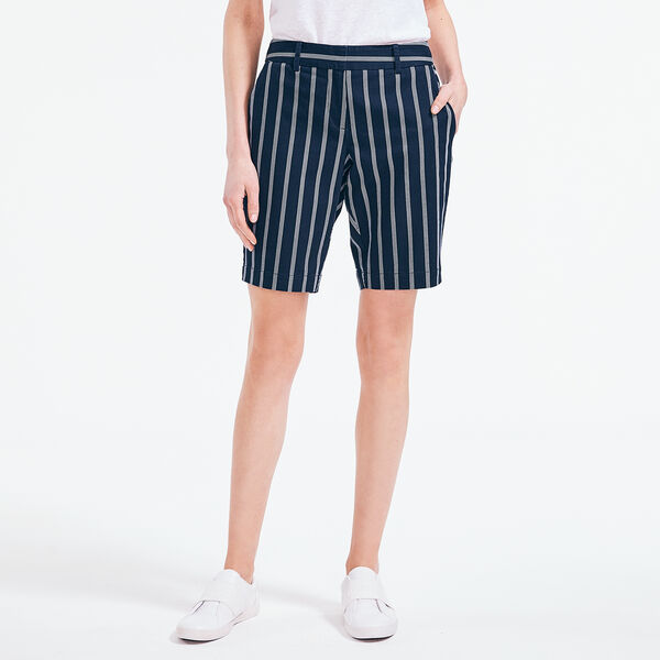 "10"" STRIPED STRETCH-TWILL SHORT - Stellar Blue Heather"