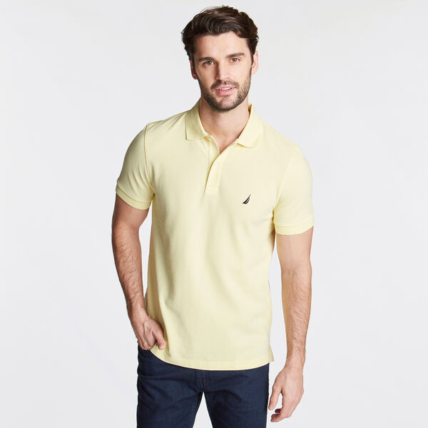SLIM FIT MESH POLO - Light Mimosa