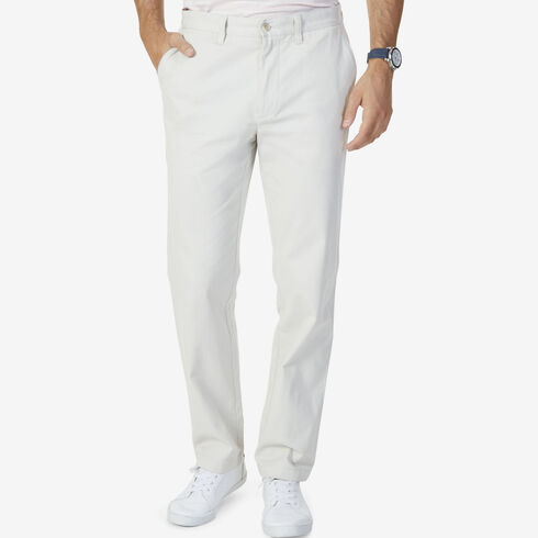 Stretch Twill Classic Fit Performance Deck Pants - Nautica Stone
