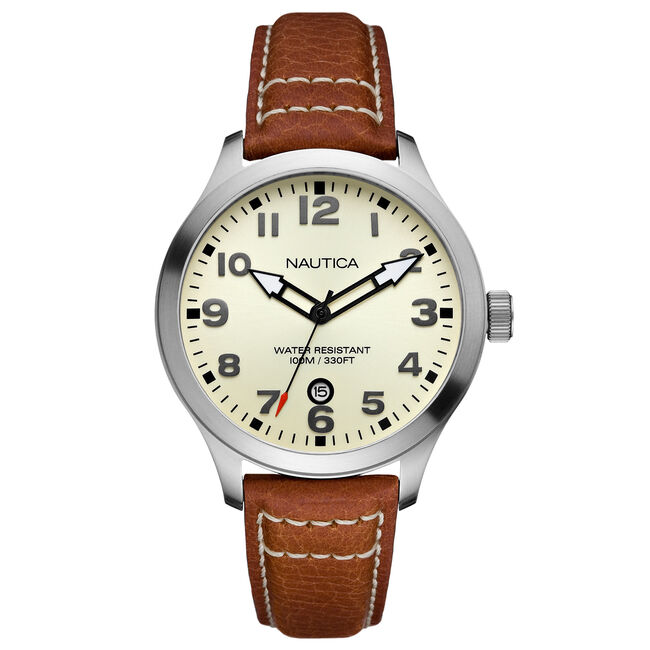 BFD 101 Pebbled Leather Watch,Multi,large