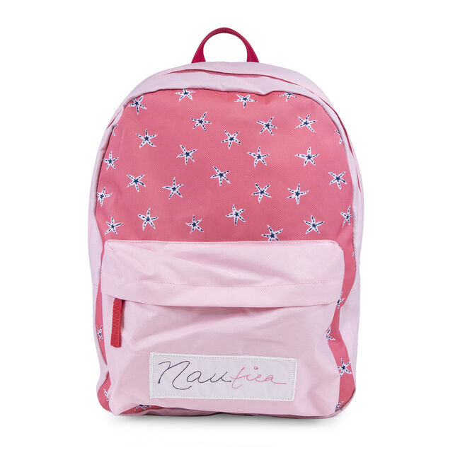 GIRLS' PRINTED BACKPACK,Cliff Grey,large