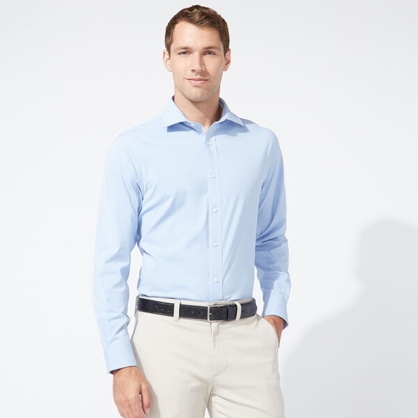 CLASSIC FIT PERFORMANCE TECH SHIRT IN LIGHT BLUE - Hawaiian Ocean