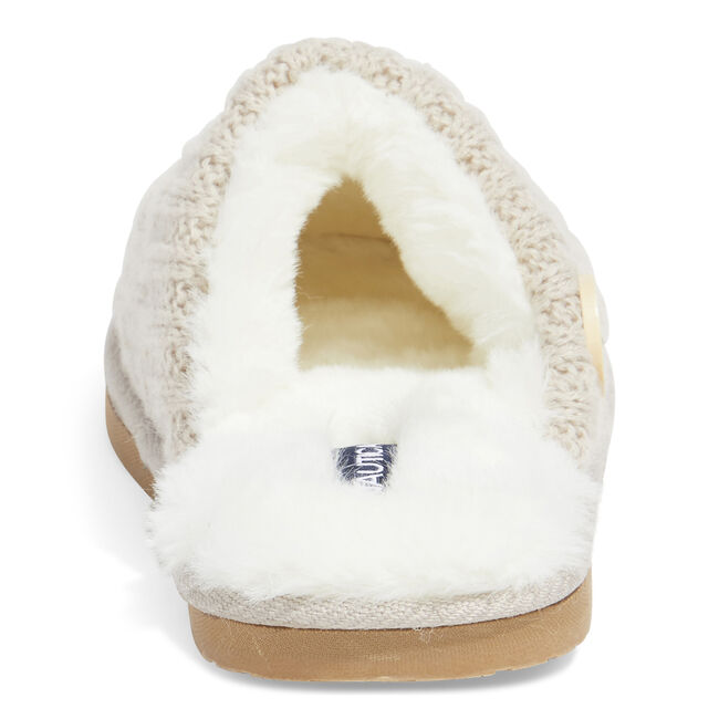 TERRA CABLE KNIT SLIPPERS IN BEIGE,Military Tan,large
