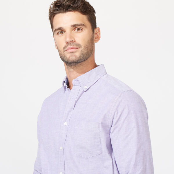 CLASSIC FIT SOLID LONG SLEEVE OXFORD SHIRT - Majestic Purple